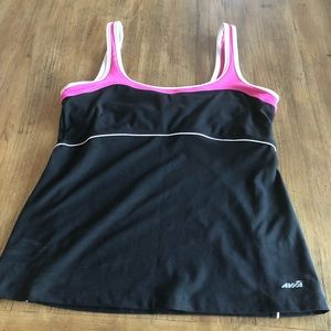 Avia Workout Top with Built-In Bra